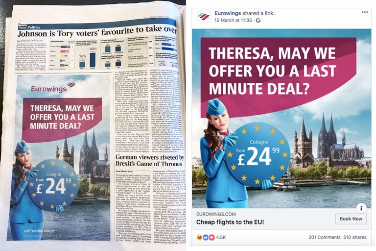 Eurowings - Brexit Tactical Advertisement