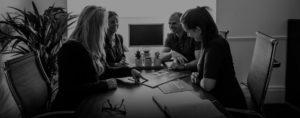 Core SWC Partnership team around boardroom table
